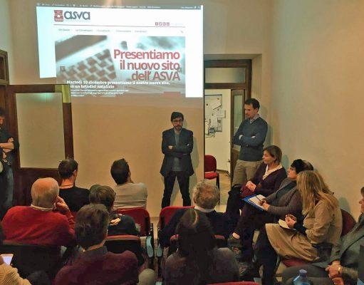 La presentazione del nuovo sito nella sede dell'Asva