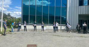 La manifestazione dell'Usigrai e della Fnsi a Saint-Christophe